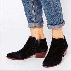 Sam Edelman Petty Ankle Suede Bootie Boots Black